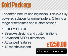 Gold e-commerce package